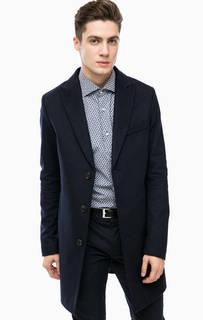 Синее пальто из шерсти Cinque