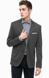Трикотажный пиджак серого цвета Cinque