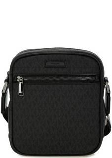 Серая сумка с логотипом бренда Michael Michael Kors