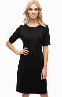 Черное платье с кружевом Blue Seven