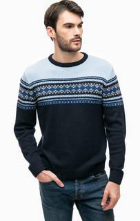 Синий трикотажный свитер Blue Seven