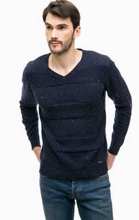 Синий хлопковый свитер Blue Seven