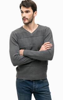 Серый хлопковый свитер Blue Seven