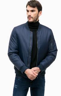 Синяя куртка с карманом на рукаве Blue Seven