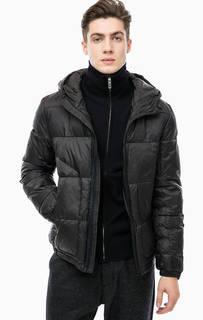 Черная куртка с капюшоном Antony Morato