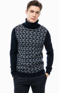Шерстяной свитер в клетку с высоким воротом Antony Morato