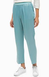 Синие укороченные брюки Stefanel