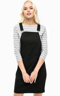 Черное платье-сарафан из хлопка Sugarhill Boutique