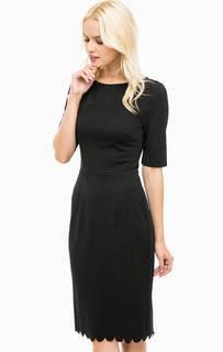 Черное платье-футляр с фигурным краем Sugarhill Boutique