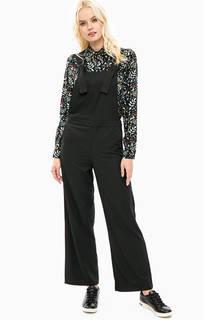 Черный комбинезон с широкими брюками Sugarhill Boutique