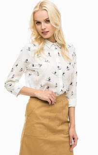 Приталенная блуза молочного цвета Sugarhill Boutique