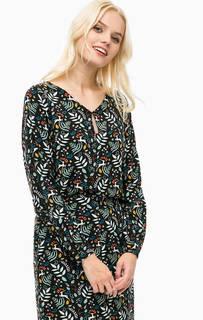 Черная блуза из вискозы Sugarhill Boutique