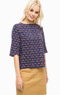 Синяя блуза из вискозы Sugarhill Boutique