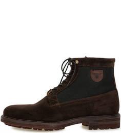 Замшевые ботинки с текстильными вставками Gant