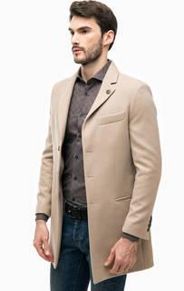 Бежевое трикотажное пальто Besilent