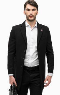 Черное трикотажное пальто Besilent