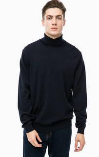 Синий джемпер из хлопка и шерсти Pierre Cardin