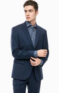 Синий классический пиджак из шерсти Pierre Cardin
