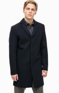 Синее пальто с карманами Selected
