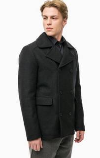 Двубортное пальто с карманами Selected