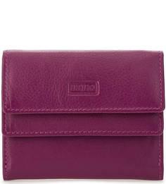 Компактный кожаный кошелек фиолетового цвета Mano