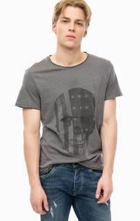 Хлопковая футболка с принтом Blend