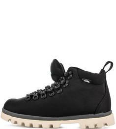 Черные текстильные ботинки Native