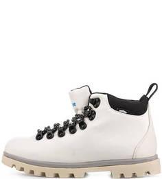Белые текстильные ботинки Native