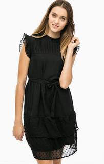 Черное платье с короткими рукавами Blend She