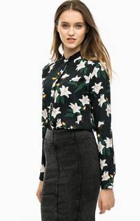 Черная блуза с цветочным принтом Blend She