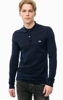 Синяя футболка поло из шерсти Lacoste