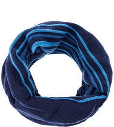 Синий трикотажный шарф-хомут в полоску Buff