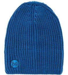 Синяя вязаная шапка с подкладкой Buff