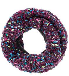 Фиолетовый вязаный шарф-хомут Buff