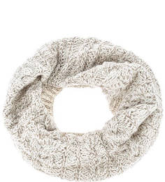 Вязаный шарф-хомут молочного цвета Buff