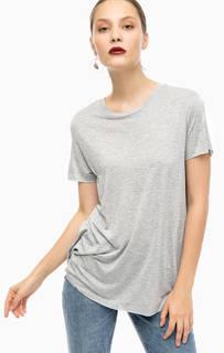 Серая футболка с разрезом сзади Cheap Monday