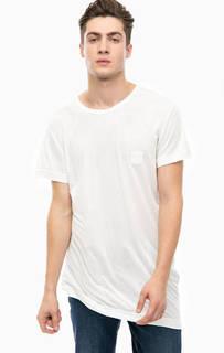 Удлиненная футболка белого цвета Cheap Monday