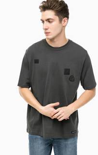 Темно-серая футболка из хлопка Cheap Monday
