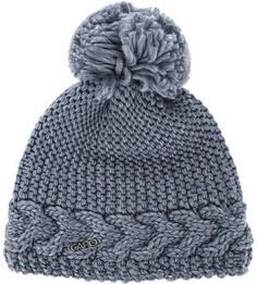 Синяя шапка с помпоном и подкладкой Capo