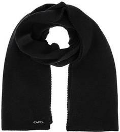 Черный трикотажный шарф Capo