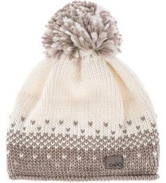 Вязаная шапка с помпоном и подкладкой Capo