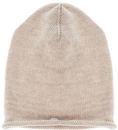 Бежевая вязаная шапка Capo
