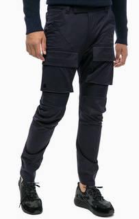 Хлопковые брюки карго синего цвета G Star RAW
