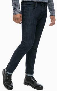 Синие зауженные джинсы на болтах G Star RAW