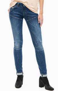 Синие джинсы скинни с пятью карманами G Star RAW