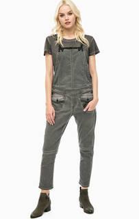 Серый джинсовый комбинезон со съемными лямками G Star RAW