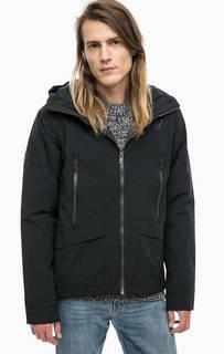Легкая черная куртка с капюшоном Superdry