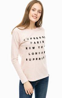 Хлопковая футболка в полоску Superdry