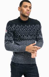 Синий свитер с круглым вырезом Superdry