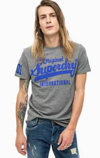Хлопковая футболка с круглым вырезом Superdry